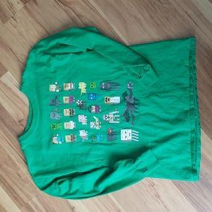 Mojang official Minecraft green long sleeve tee